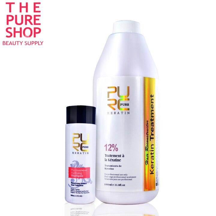 Tratamento de queratina alisamento 12% formlain 1000ml de queratina para o cabelo de alta qualidade cabelo queratina alisamento produto bom efeito