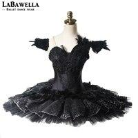 Профессиональная балетная пачка Для Женщин Производительность Черный Лебединое озеро охранников YAGP Балетные Сценические костюмы