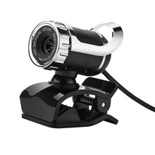 High Quality Mini USB 2.0 Webcam 12.0 Mega Pixel HD Camera Webcam 360 Degree MIC Clip-on for Skype Computer Laptop Black