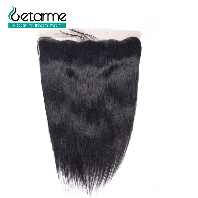 Getarme Lace Frontal Closure 13*4 Inches Straight Brazilian Non-Remy Hair Swiss Lace Closure 8
