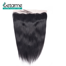 "Getarme Lace Frontal Closure 13*4 inches Straight Brazilian Non Remy Hair Swiss Lace Closure 8"" 18"" Human Hair Extension"