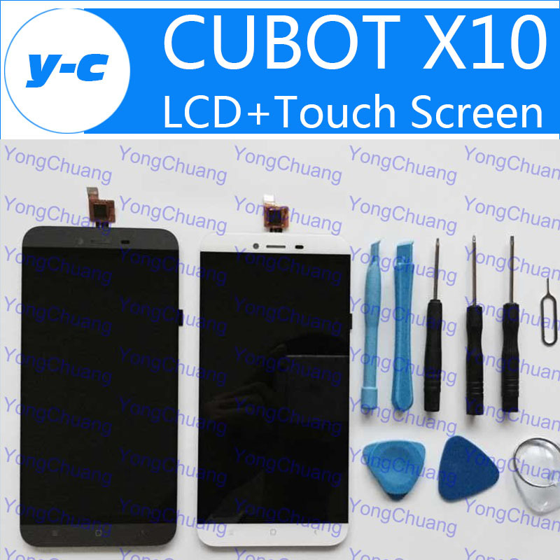 Cubot X10 LCD+Touch Screen 100% New Display Digitizer Glass Panel+Tools Assembly Replacement CUBOT X 10 Free Shipp -In Stock tlplw15 original bare projector lamp bulb for toshiba tdp st20 tdp ex20 tdp ew25 tdp ex20u tdp ew25u tdp ex21 tdp sb20