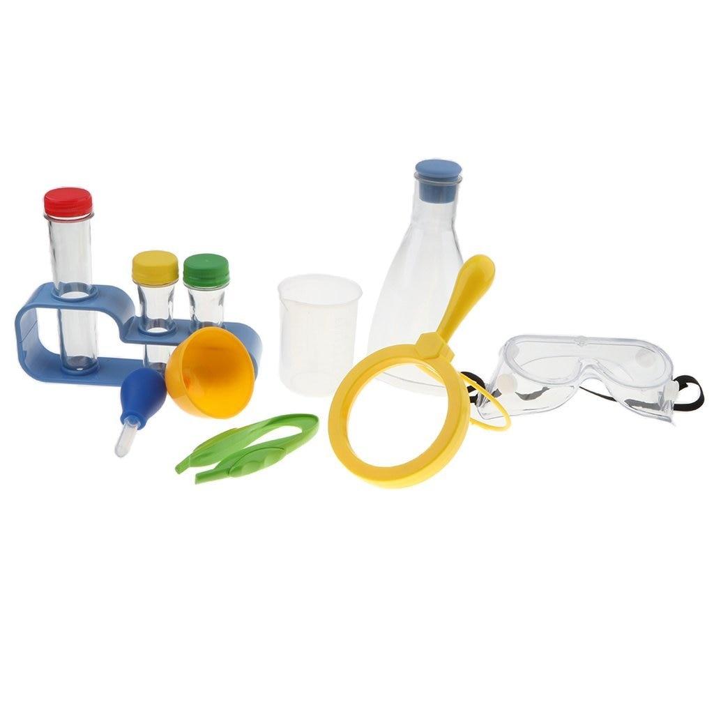 11 pièces Chimie Biologie Laboratoire Fournit des Équipements Ensemble D'exploration Scientifique D'apprentissage jouets éducatifs cadeaux pour les Enfants Enfants