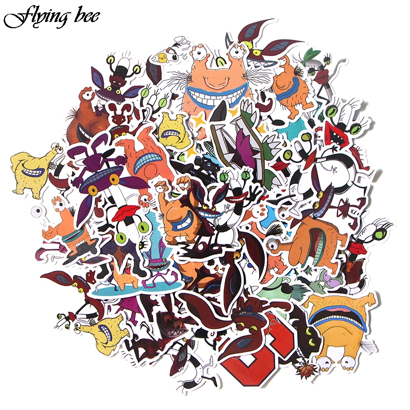 Flyingbee 42 Pcs Aaahh Real Monsters funny Sticker Decals Scrapbooking Stickers for DIY Luggage Laptop phone Car X0017