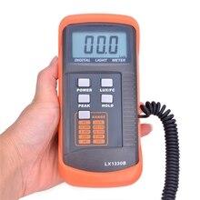 プロフェッショナルデジタルルクス計0.1〜200,000ルクス/fc液晶光メーター検出光強度正確なデータホールドピーク読書ホールド