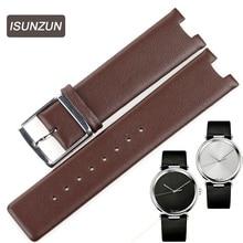 ISUNZUN New Watchband Calfskin Leather Watch Strap Watchband 20mm Steel Buckle Watchband for K1S21120/K1S21102/KIS21100 все цены