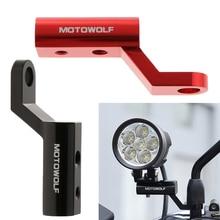 2 Pcs Moto Specchietto retrovisore di Estensione Staffa di Montaggio Del Supporto Per Moto Auto Elettriche Atv 10 1/2 millimetri fori per le viti
