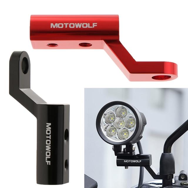 2 pçs motocicleta espelho retrovisor extensão suporte de montagem para moto carros elétricos atvs 10 1/2mm furos de parafuso