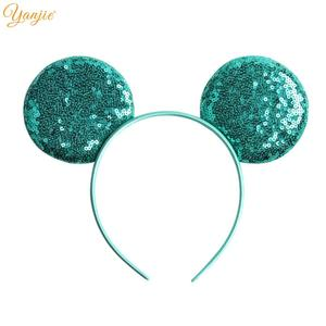 Image 5 - 14pcs/lot 2020 Fashion Sequins Mouse Ears Headband Glittle DIY Girls Hair Accessories For Women Hairband Party Accesorios Mujer