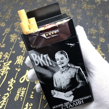 Personality Pattern Printed Cigarette Case Aluminum Alloy Metal Storage Box Holder Carrier Container For 20 Cigarettes