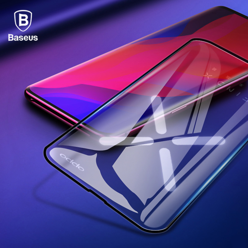 Baseus 0.3MM Screen Protector Tempered Glass For OPPO Find X Curved Edge Full Cover Toughened Protection Glass Film For Find X