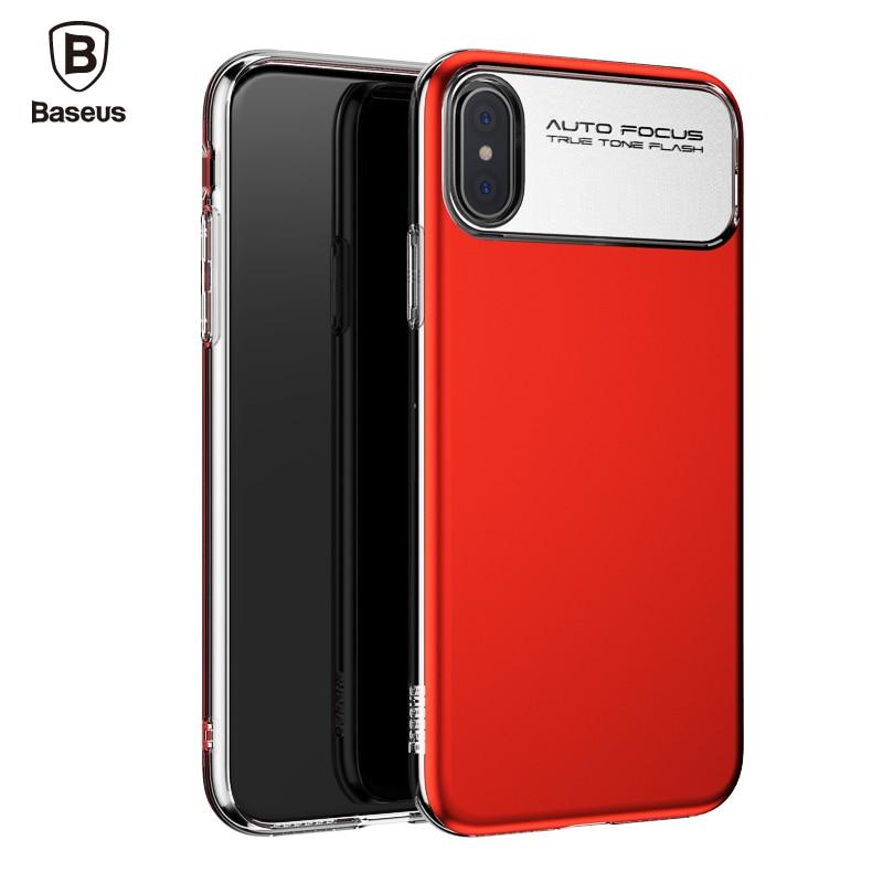 Galleria fotografica Baseus Brand Luxury Case For iPhone X 10 Capinhas Hard PC & Soft TPU Silicone Case For iPhoneX Back Cover Coque Fundas