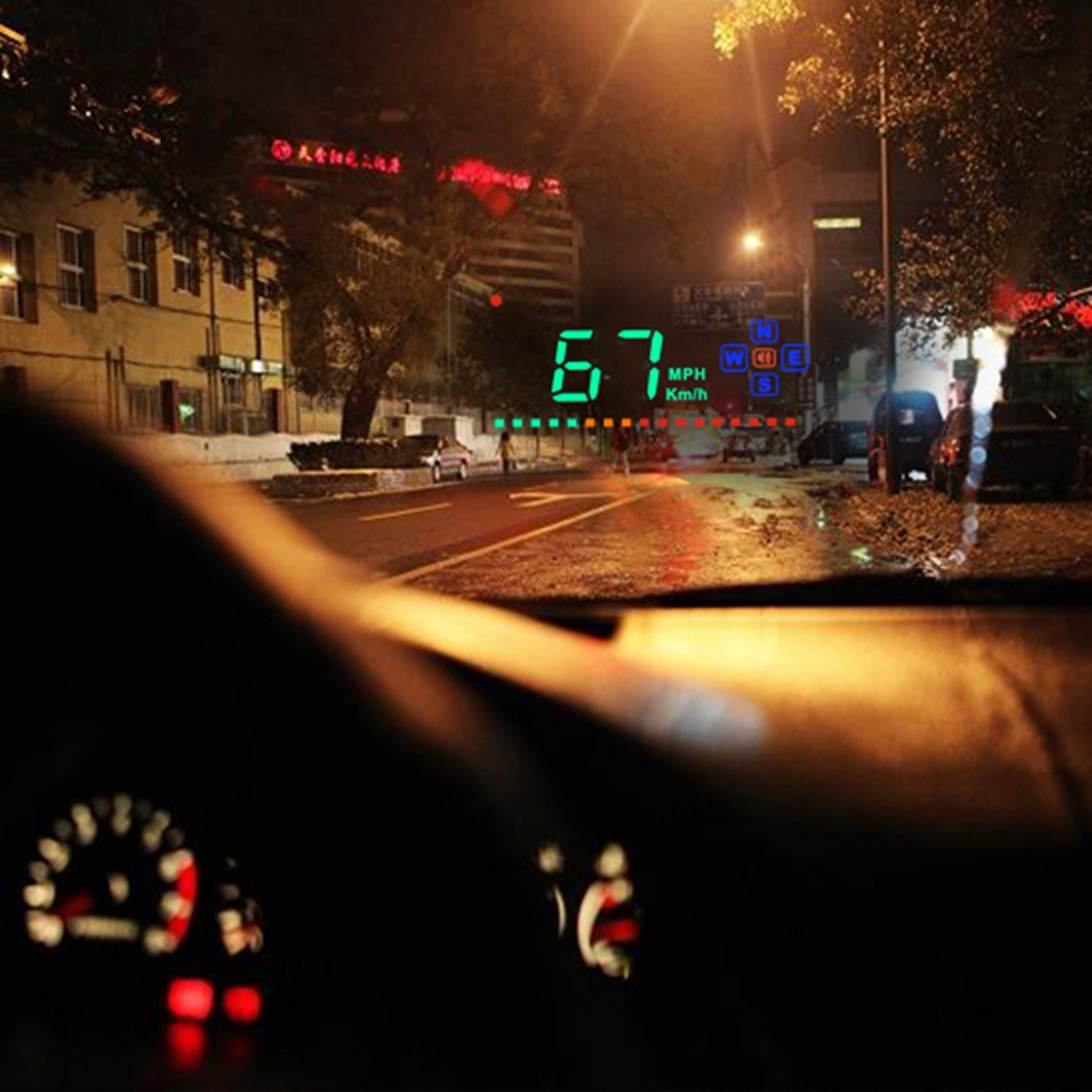 Kompatibel mit Alle Auto Geschwindigkeit Projektor GPS Digitale Auto Tacho A2 Elektronik Head Up Display Auto HUD Windschutzscheibe Projektor