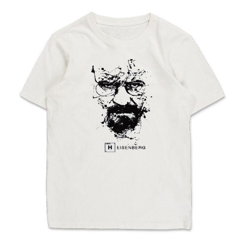 Top quality cotton o neck heisenberg men tshirt short for Best quality shirts to print on