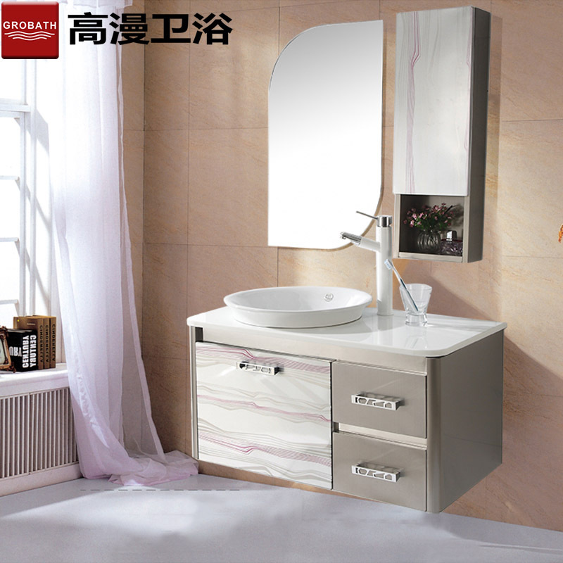 A combination of stainless steel bathroom cabinet bathroom cabinet ...