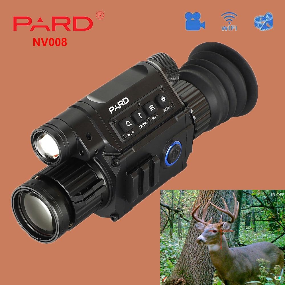 PARD NV008 lunette de Vision nocturne numérique caméra monoculaire IR pour lunette de visée avec pointeur Laser pour la chasse en plein air jour et nuit