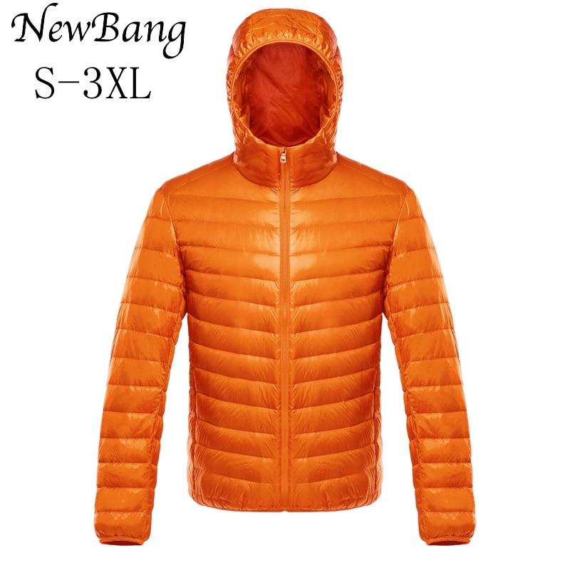 NewBang Down Coat Male Ultra Light Down Jacket Men's Warm Jackets Windbreaker Lightweight Coat Feather Puffer Parka Feather Coat