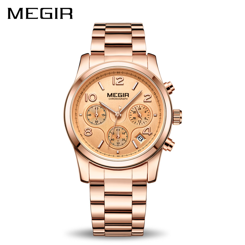 MEGIR Luxury Quartz Women Watchs