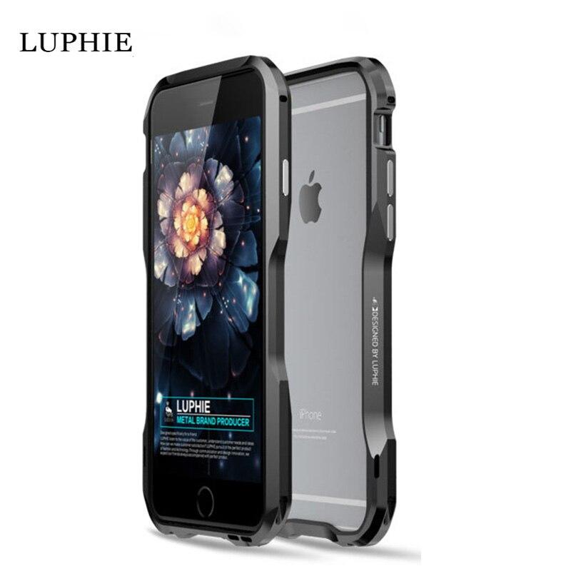 imágenes para Marco De Aluminio de parachoques del Metal para el iphone 6 más Caso Luphie teléfono de Lujo de la Marca para el iphone 6 s plus Cajas Metálicas a prueba de golpes