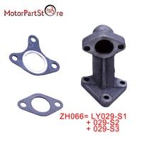 MUFFLER MANIFOLD EXHAUST PIPE/GASKET FOR HONDA GX240 GX340 GX390, 18330 ZH9 N00