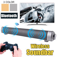 Portable Speaker Soundbar Wireless Bluetooth Sound Bar TV 3D Stereo Aux/HIFI /TF Card Home Theater Audio Radio Subwoofer Speaker