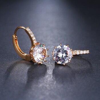 EMMAYA Fashion 10 Colors AAA CZ Element Stud Earrings For Women Wholesale Chea Factory Price 5