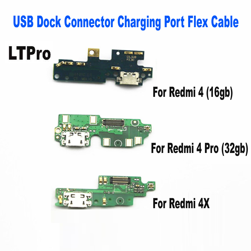 LTPro High Quality For Xiaomi <font><b>Redmi</b></font> <font><b>4</b></font> <font><b>Pro</b></font> <font><b>USB</b></font> Dock Connector Charging Port Flex Cable for redmi4 <font><b>redmi</b></font> 4x <font><b>USB</b></font> Charger Plug Parts image