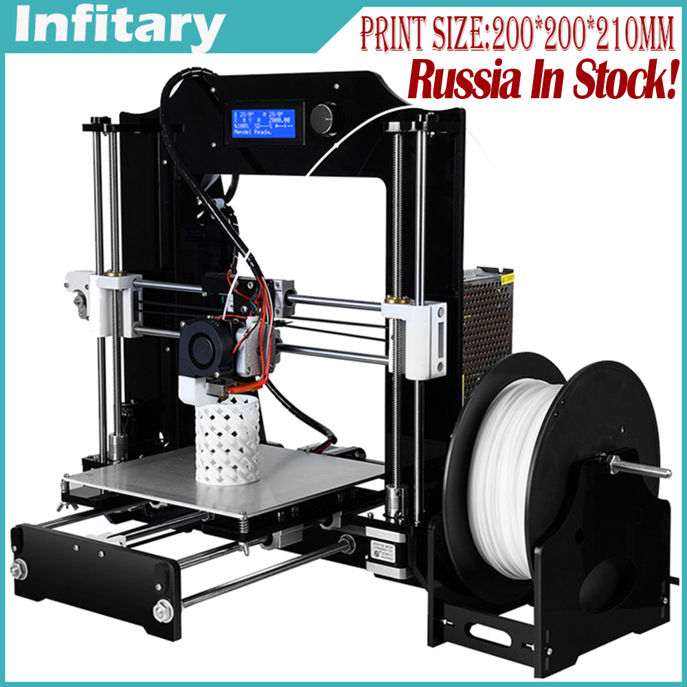 Newest RepRap Prusa i3 3D font b Printer b font kits Acrylic Molded CNC Full Colors