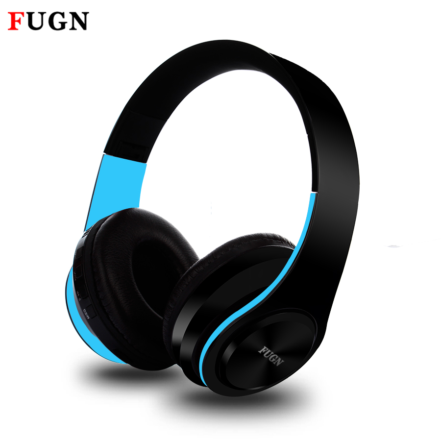 FUGN Headphone HiFi Bass Stereo Bluetooth Wireless Headset With Mic MicroSD/TF FM Radio Earphone Headphones for Phone Xiaomi hifi deep bass wireless stereo bluetooth headphone noise cancelling headset with mic support tf card fm radio