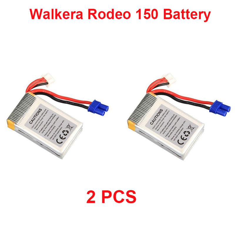 2PCS Original Walkera Rodeo 150 battery spare parts <font><b>7.4v</b></font> 850mAh <font><b>Li</b></font>-<font><b>Po</b></font> battery Rodeo 150-Z-27 Accessories image