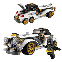 305Pcs Lepin 07047 Genuine Batman Series The Arctic War Penguin Classic Car Set Building Blocks Bricks
