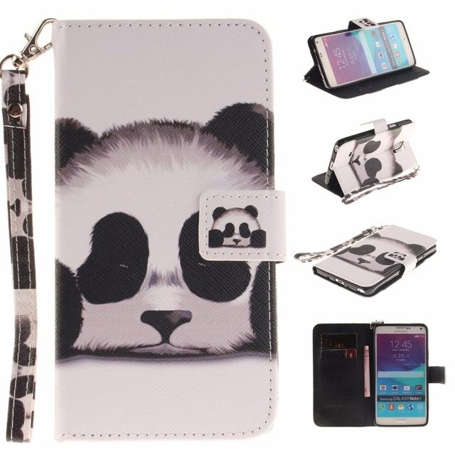 Leather Cover Flip Case for Samsung Galaxy Note 4 Note4 N910C N910U N910F N910V N910T SM-N910U SM-N910F SM-N910V SM-N910T Fundas