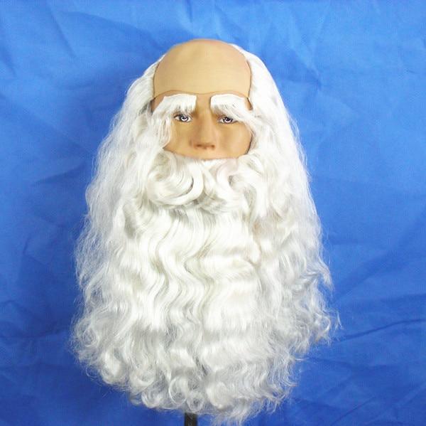 Noël habiller Fans adulte/enfant Cosplay barbe blanche père noël moustache pour hommes/enfants