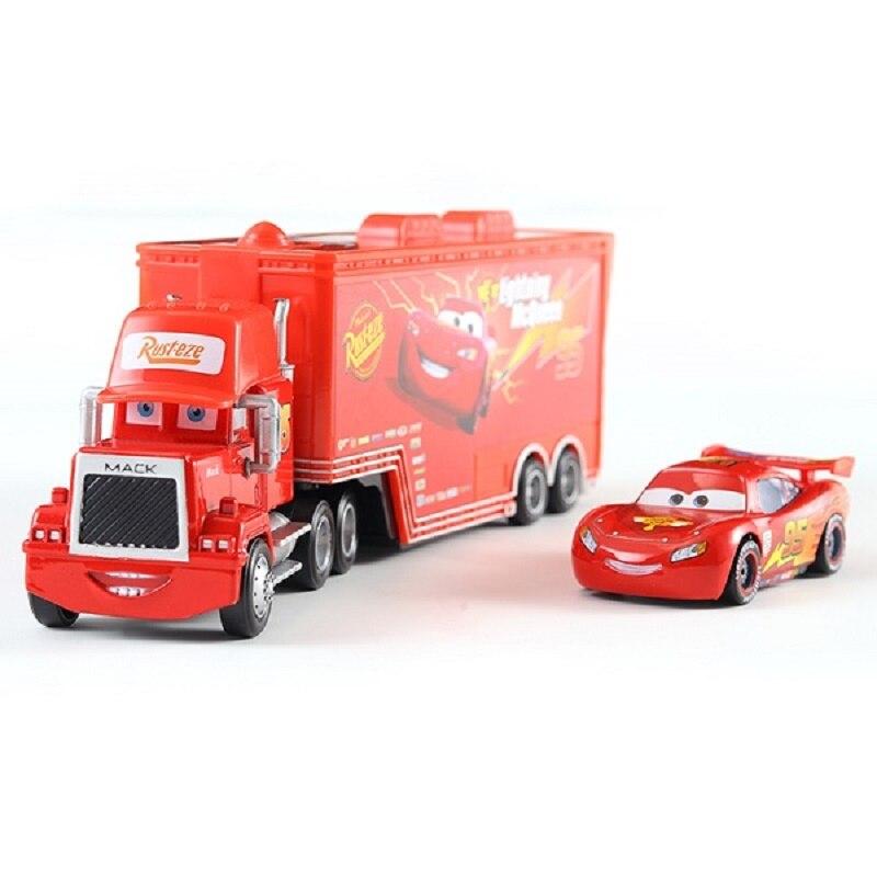 Cars Disney Pixar Cars 3 Toys Lightning McQueen Jackson Storm Mack Uncle Truck 1:55 Diecast Model Car Toy Children Birthday Gift