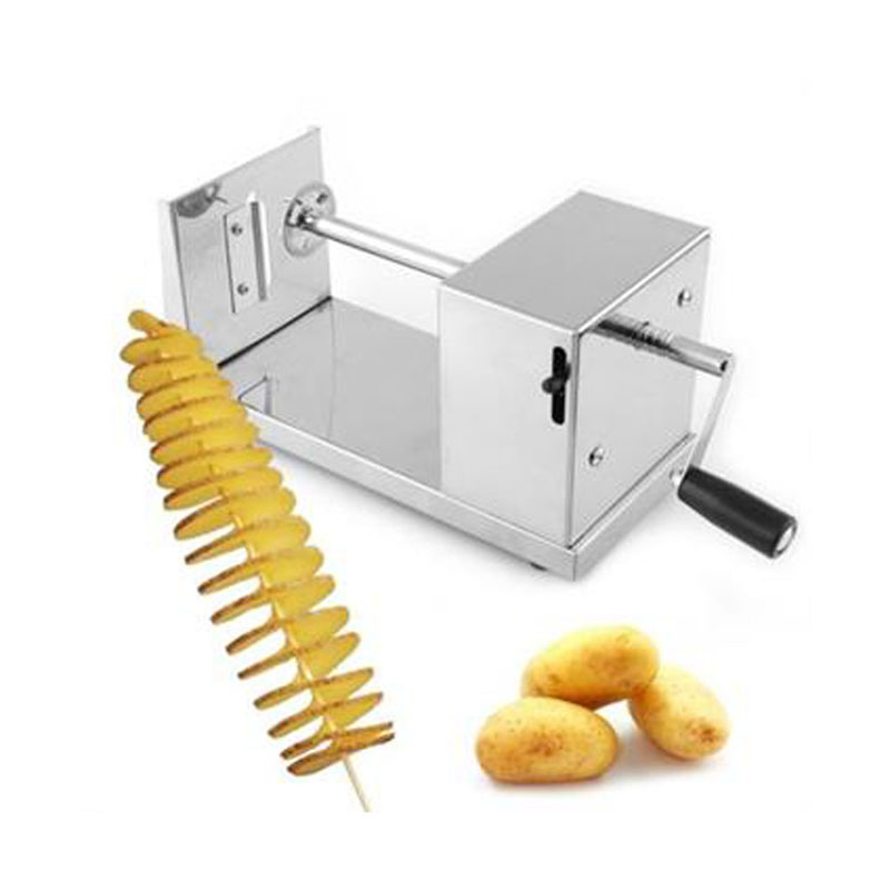 Manual tornado potato machine twisted sweet potato slicer spiral vegetable cutter french fry cutting tool руководство twisted картофеля фри из нержавеющей стали slicer овощей