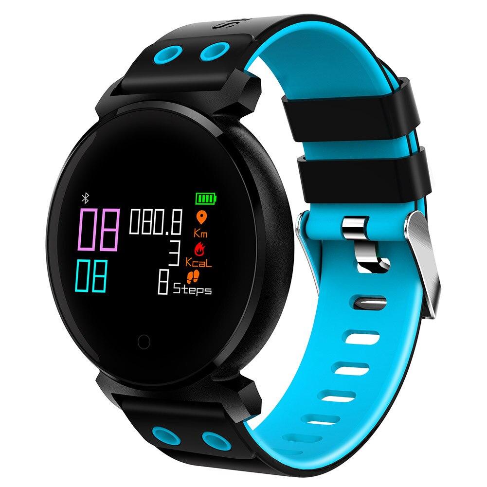 Nouveau K2 0.95 Pouce OLED 3D Arc HD Coloré Écran Smart Soutien Bracelet Coeur de La Pression Artérielle Taux Podomètre Sommeil Surveillance