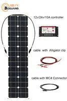 Boguang 50 Вт солнечные панели сотового монокристаллического кремния модуль 10A контроллер MC4 кабель Разъем 12 В батареи свет RV зарядки