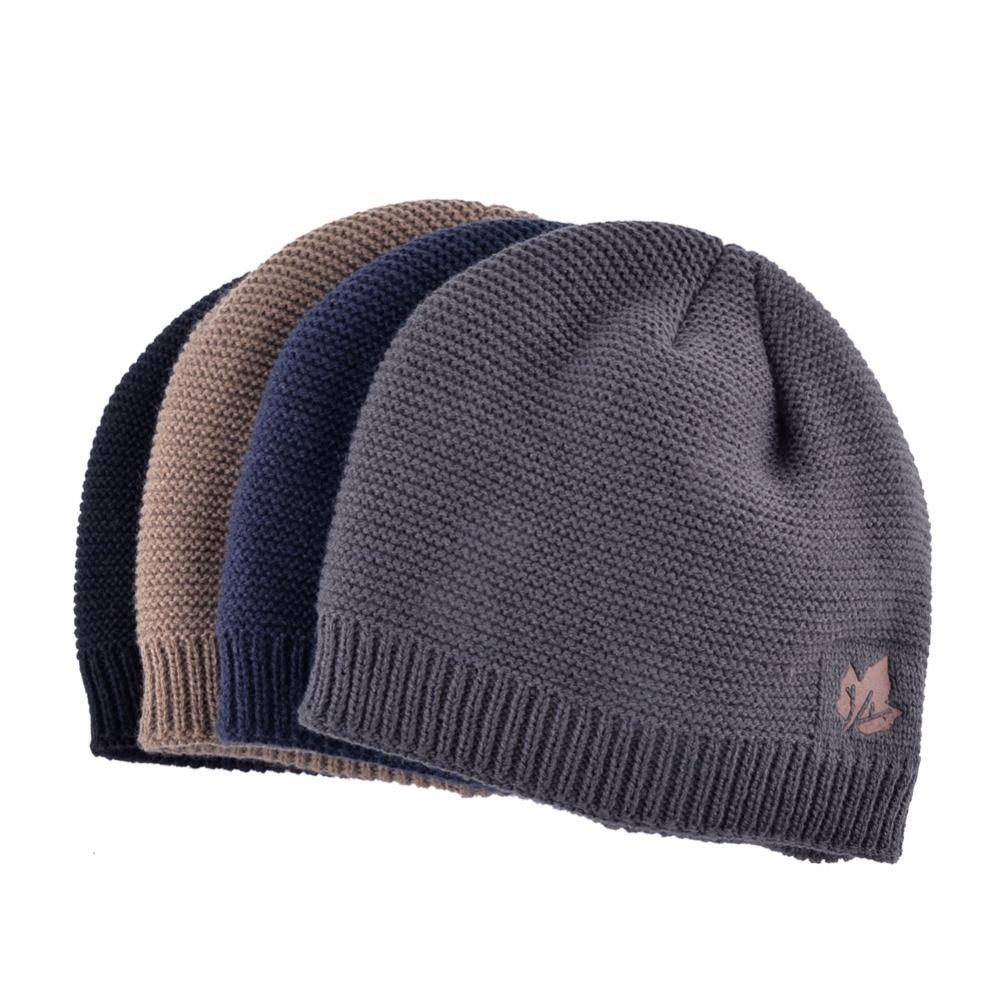 3fe3b4acd47 2018 Men Winter Hat Scarf Sets Fashion Maple Leaf Knitted Skullies Beanies  Man Thick Add Velvet ...