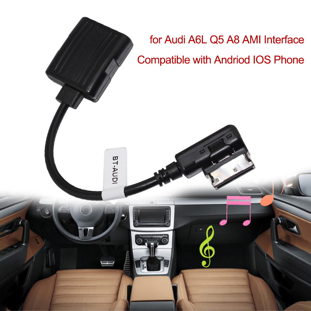 Wireless Bluetooth Adapter Cable For Audi And Volkswagen: Car Bluetooth Receiver Module Radio Stereo AUX Cable
