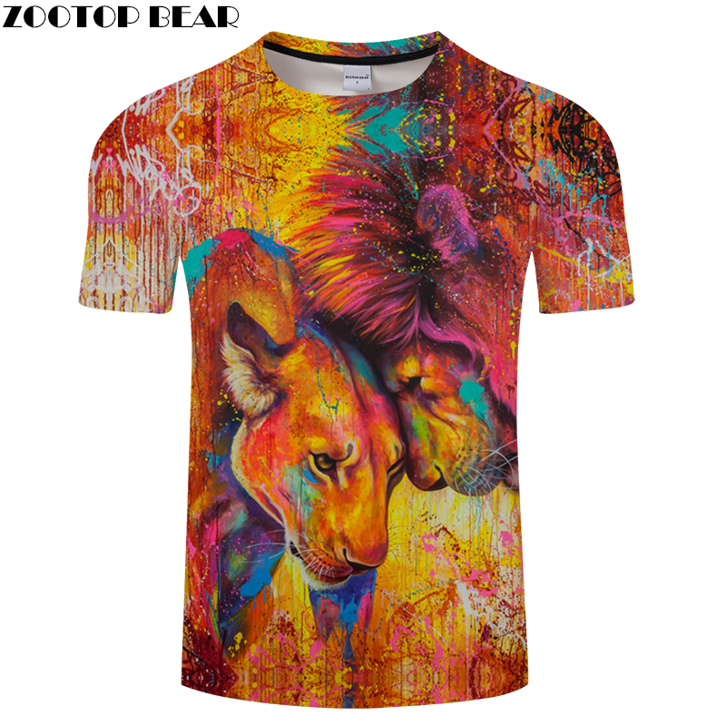 Tiger in Love 3D tshirts Men Women t shirt Animal t-shirt Funny Tee Autumn Top Streatwear Short Sleeve 2018 Drop Ship ZOOTOPBEAR