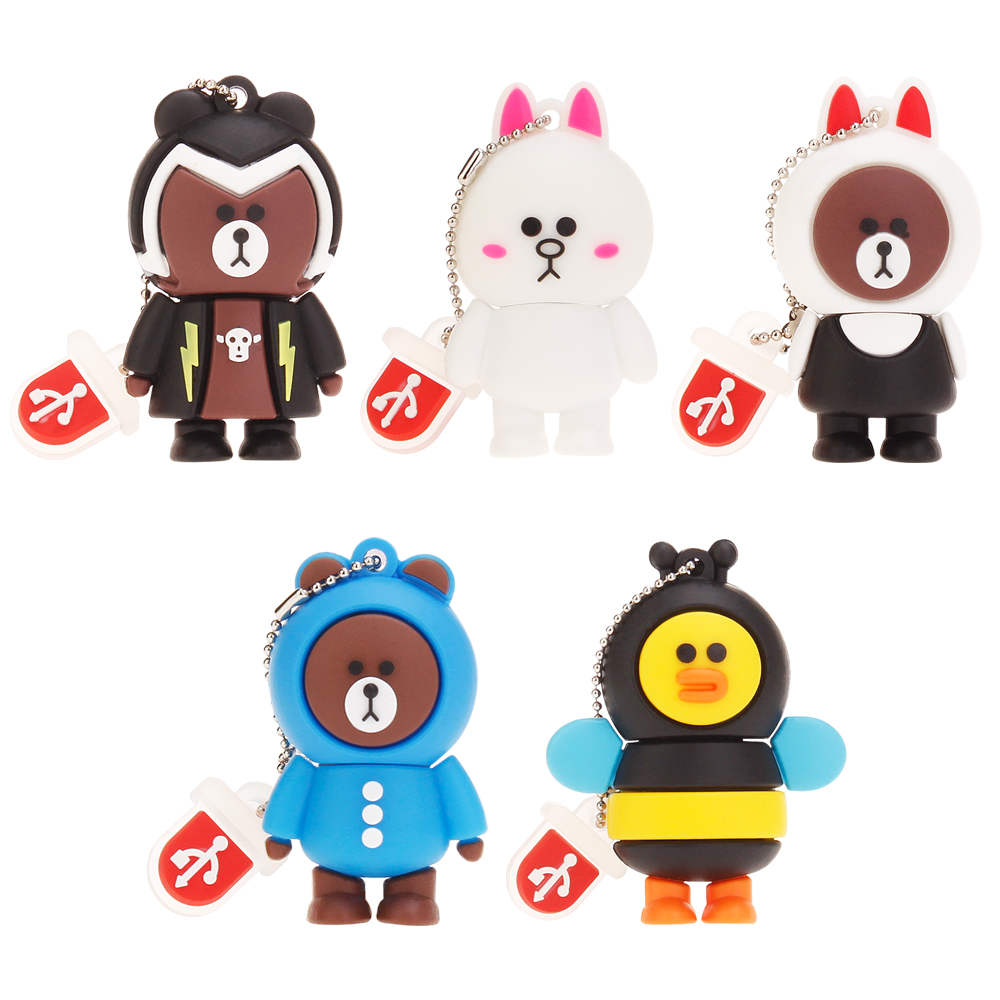 New Rilakkuma Bear pen drive 4GB 8GB 16GB 32GB 64GB 128GB usb flash drive pendrive Cartoon USB 2.0 Memory Stick Bear Brown Gifts (12)