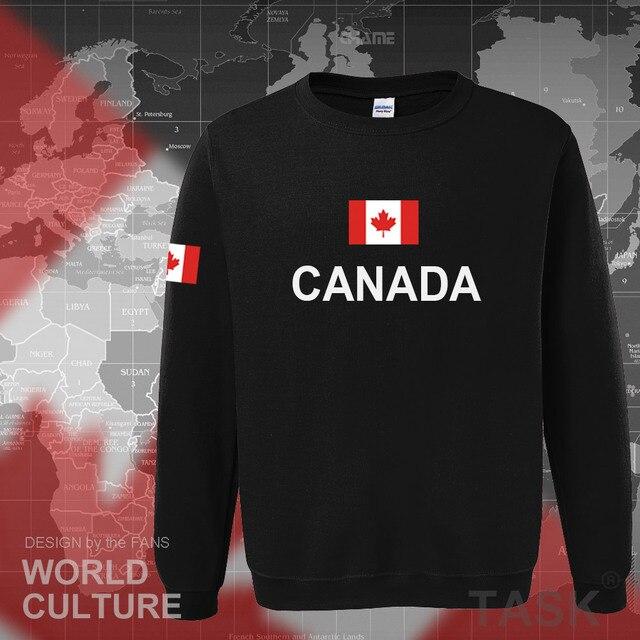 Canada 2017 hoodies men sweatshirt sweat new streetwear clothing jerseys footballer tracksuit nation Canadians flag fleece CA 1