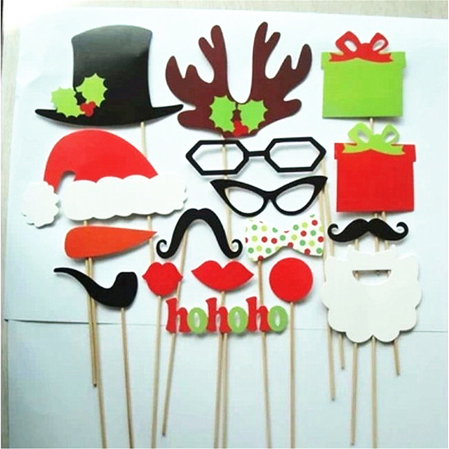 17Pcs Paper Christmas Hat Funny Interesting Party Photography Props Kids Toys Decoration