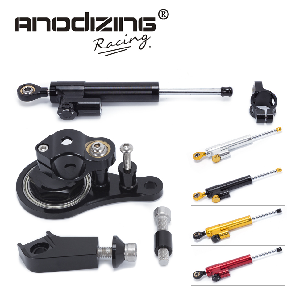 FREE SHIPPING For Kawasaki ZX6R 2005-2006 ZX-6R Motorcycle Steering Damper Stabilizerlinear Reversed Safety Control with Bracket motorcycle cnc steering damper stabilizerlinear reversed safety control with bracket for kawasaki zzr1400 zx 14r zx14r 2006 2015