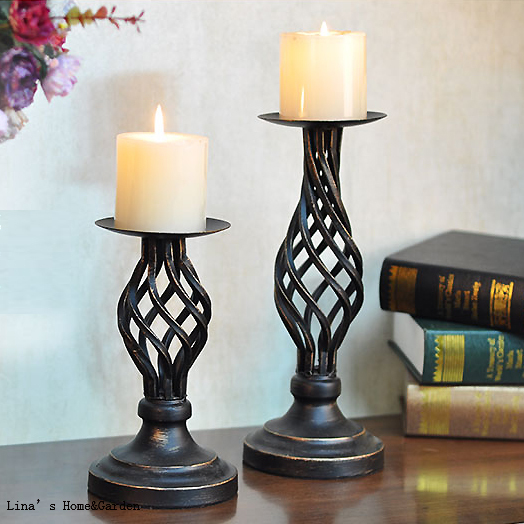 Light Weight Decoration Rustic Hand Antiqued Metal Pillar Candle Stand Pedestal Holder In Holders From Home Garden On Aliexpress