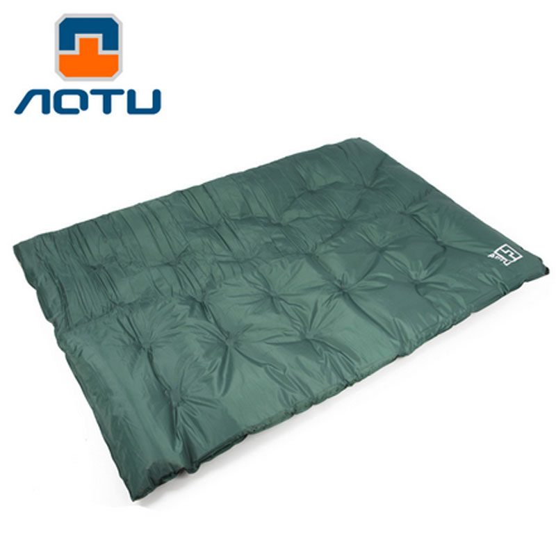 Double inflatable pad Automatic Inflatable Mattress Outdoor Camping Mat Pad Self-Inflating Moistureproof Picnic Tent Mat outdoor camping green blue splicing automatic inflatable mattress one person self inflating moistureproof tent mat with pillow