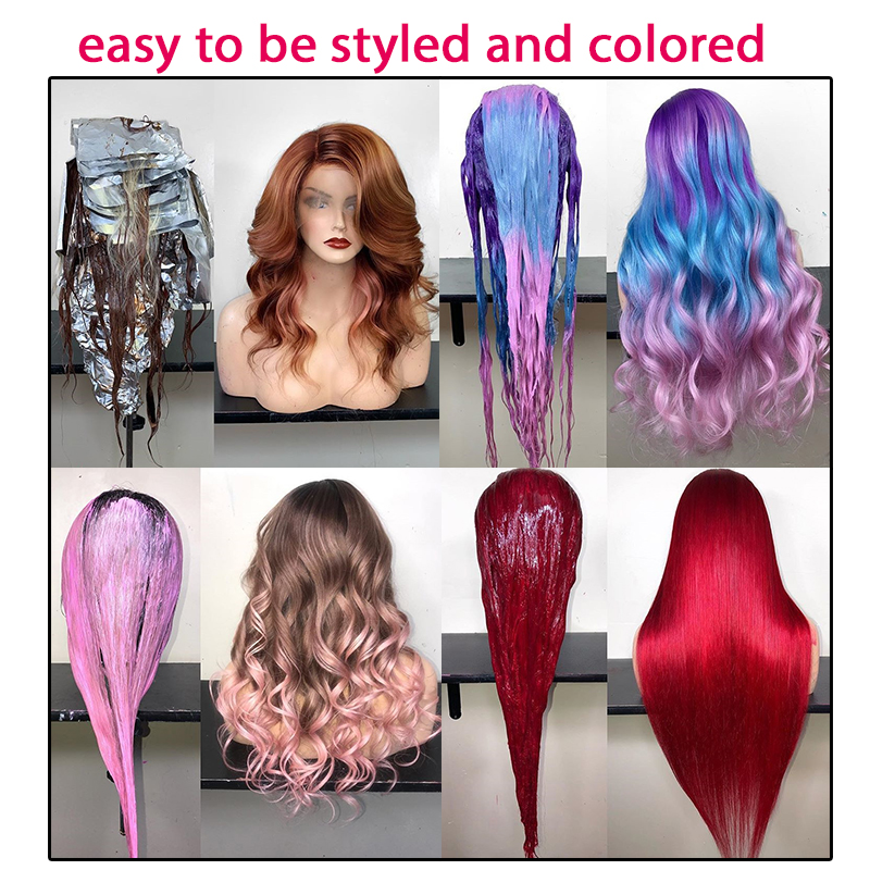 Image 5 - 613 Blonde 360 Lace Frontal Wig Pre Plucked With Baby Hair Straight 180% Density Lace Front Human Hair Wigs Short Bob Wig Venvee-in Human Hair Lace Wigs from Hair Extensions & Wigs