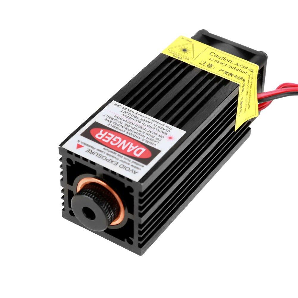 15W EU/US Plug Laser Engraver Laser Head Module W/ TTL 450nm Blu Ray Laser Cutter Laser Module Wood Marking Cutting Tool