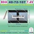[B044] 7.4V,5000mAH,[4072107] PLIB ( polymer lithium ion battery ) for tablet pc,AMPE;ONDA,CUBE,AINOL,PIPO