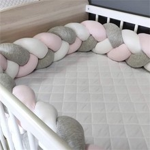 Knot Pillow Bumper Cushion Crib-Protector Room-Decor Braid Infant Baby Bebe for Cot 3M/4M